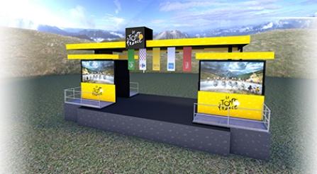 Tour de France 2017 – Présentation du podium départ