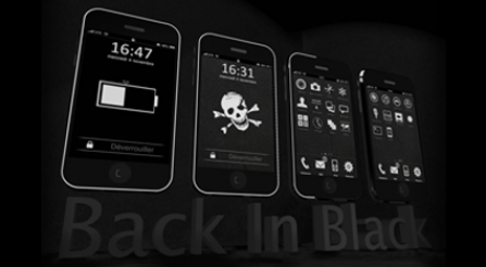 Back In Black theme pour iPhone/iPod Touch