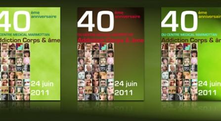 Conception de l'invitation au 40ème anniversaire de l'Hôpital MARMOTTAN